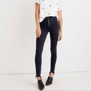 "Madewell 9"" High Rise Skinny Jeans Frayed Hem 27"
